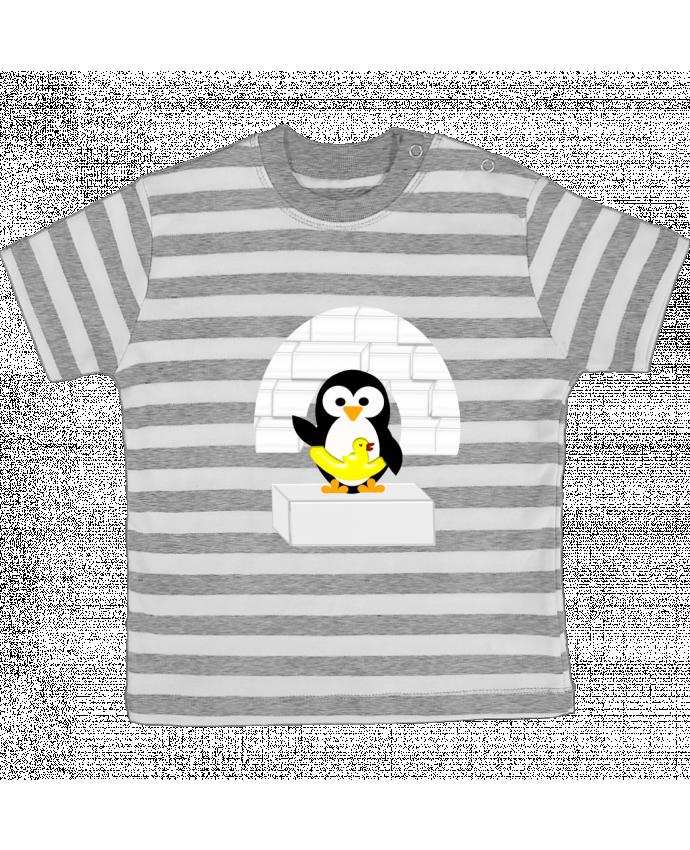 Camiseta Bebé a Rayas Le Pingouin por Les Caprices de Filles