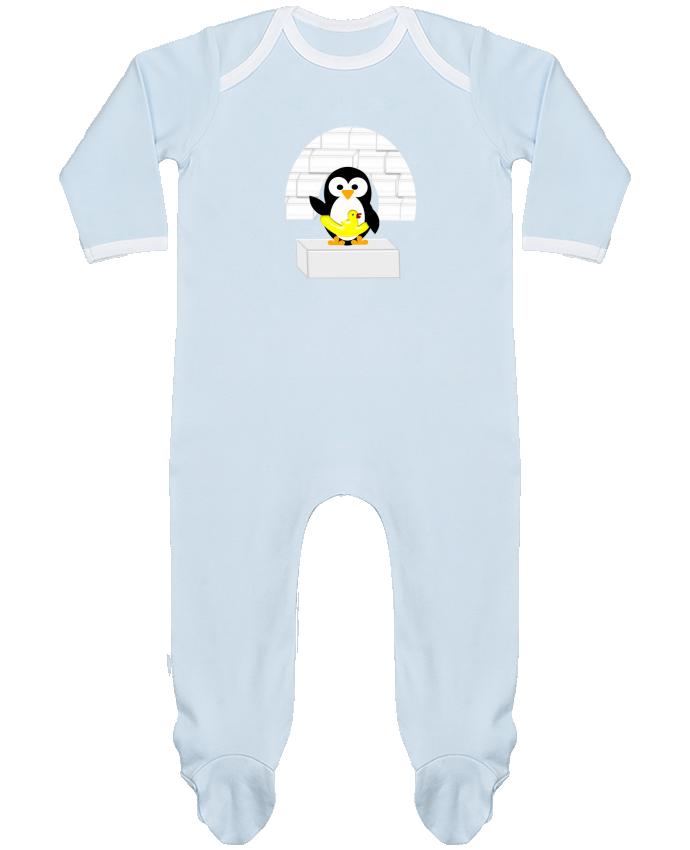 Pijama Bebé Manga Larga Contraste Le Pingouin por Les Caprices de Filles
