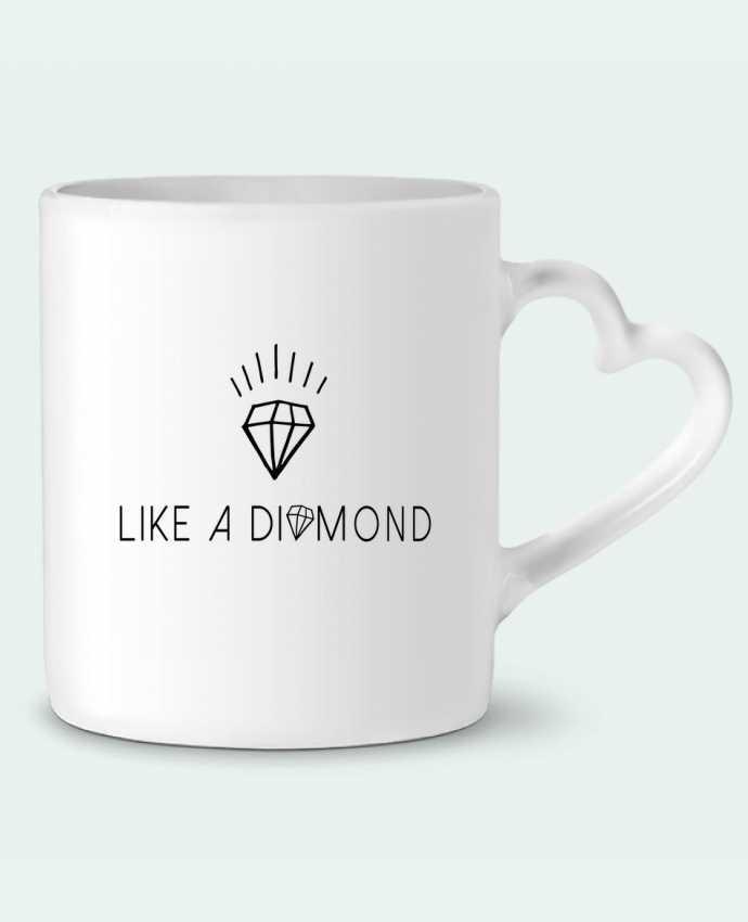 Taza Corazón Like a diamond por Les Caprices de Filles
