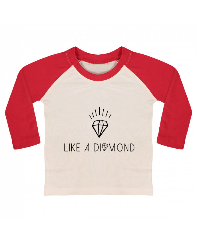 Camiseta Bebé Béisbol Manga Larga Like a diamond por Les Caprices de Filles