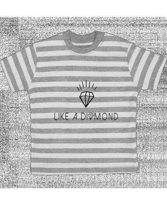 Camiseta Bebé a Rayas Like a diamond por Les Caprices de Filles