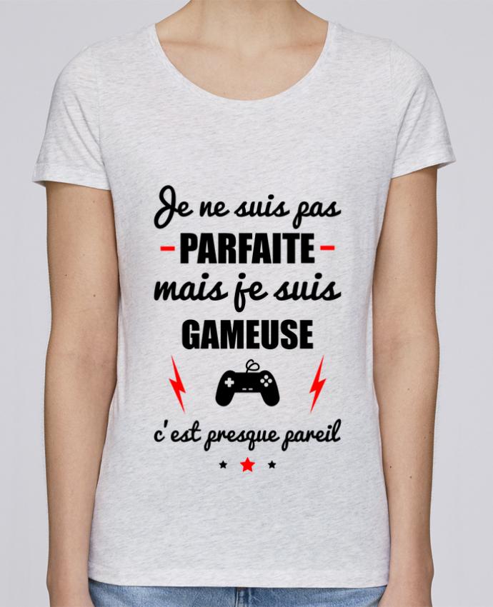 Camiseta Mujer Stellla Loves Je ne suis pas porfaite mais je suis gameuse c'est presque poreil por Benichan
