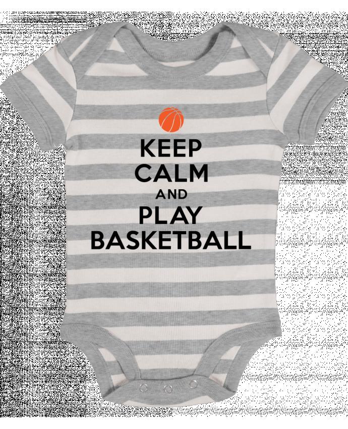Body Bebé a Rayas Keep Calm And Play Basketball - Freeyourshirt.com