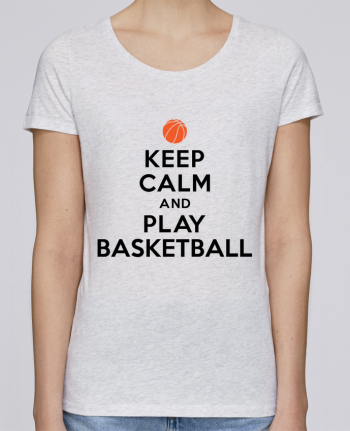 Camiseta Mujer Stellla Loves Keep Calm And Play Basketball por Freeyourshirt.com
