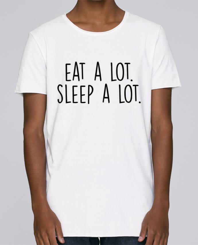 Camiseta Hombre Tallas Grandes Stanly Skates Eat a lot. Sleep a lot. por Bichette