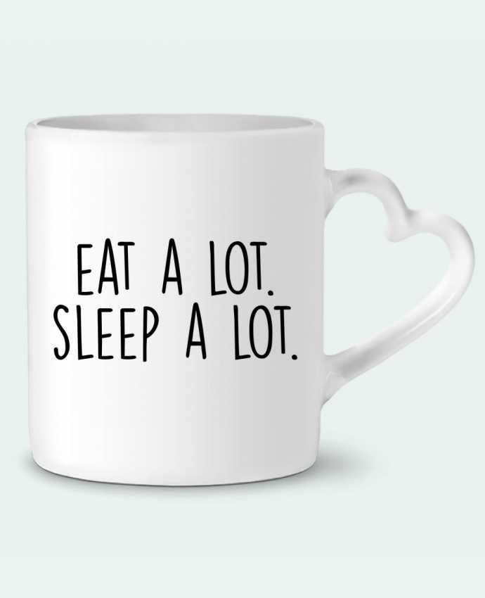 Taza Corazón Eat a lot. Sleep a lot. por Bichette