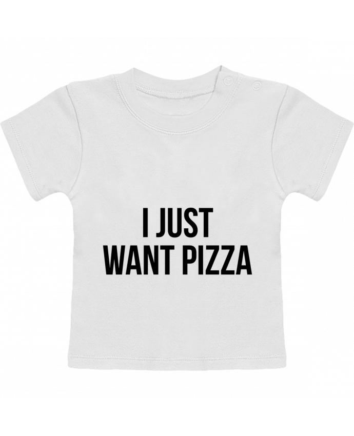 Camiseta Bebé Manga Corta I just want pizza manches courtes du designer Bichette