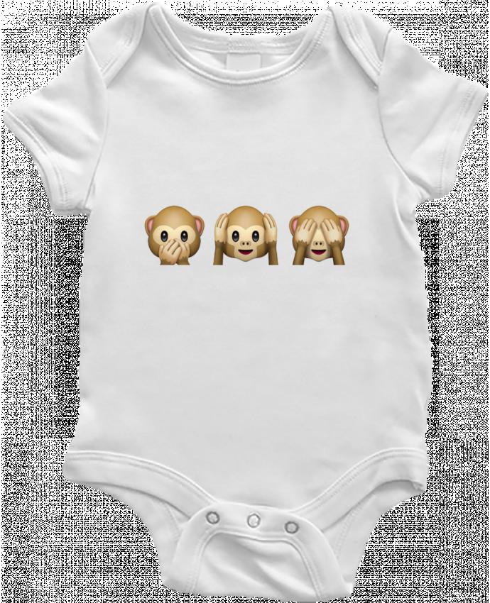 Body Bebé Three monkeys por Bichette