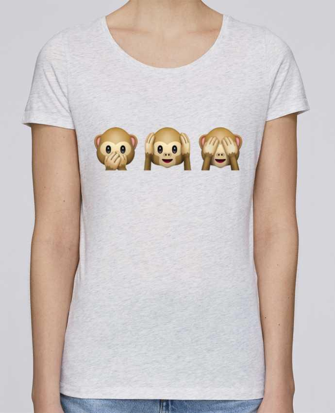 Camiseta Mujer Stellla Loves Three monkeys por Bichette