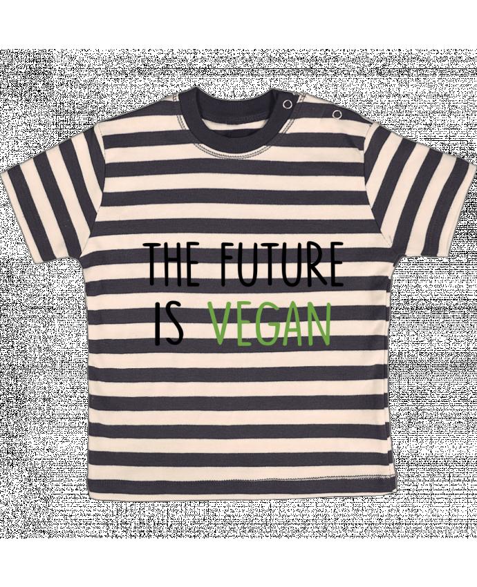 Camiseta Bebé a Rayas The future is vegan por Bichette