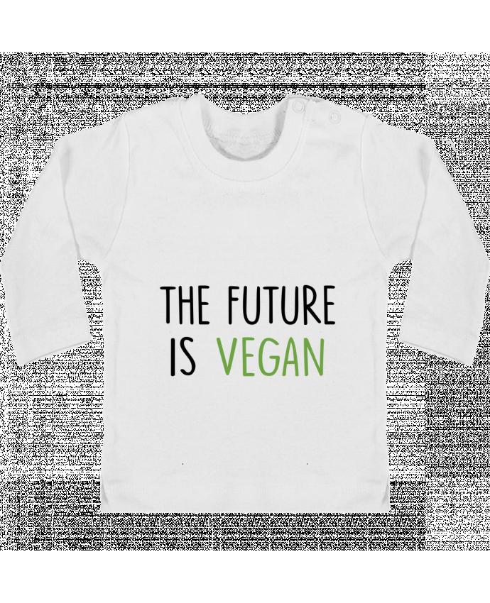 Camiseta Bebé Manga Larga con Botones  The future is vegan manches longues du designer Bichette