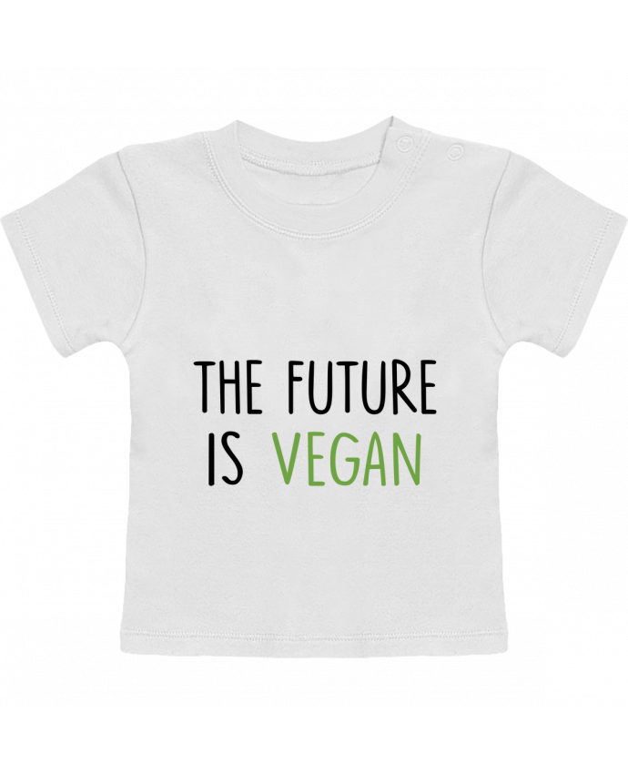 Camiseta Bebé Manga Corta The future is vegan manches courtes du designer Bichette