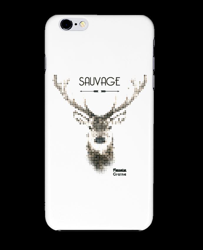 Carcasa Iphone 6+ Tête de cerf sauvage de Mauvaise Graine
