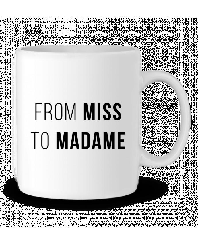 Taza Cerámica From Miss to Madam por Bichette