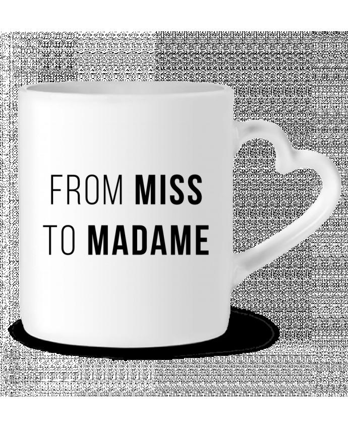 Taza Corazón From Miss to Madam por Bichette