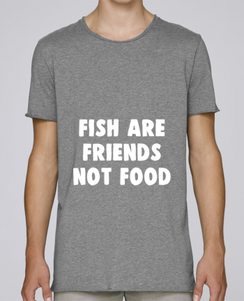 Camiseta Hombre Tallas Grandes Stanly Skates Fish are firends not food por Bichette