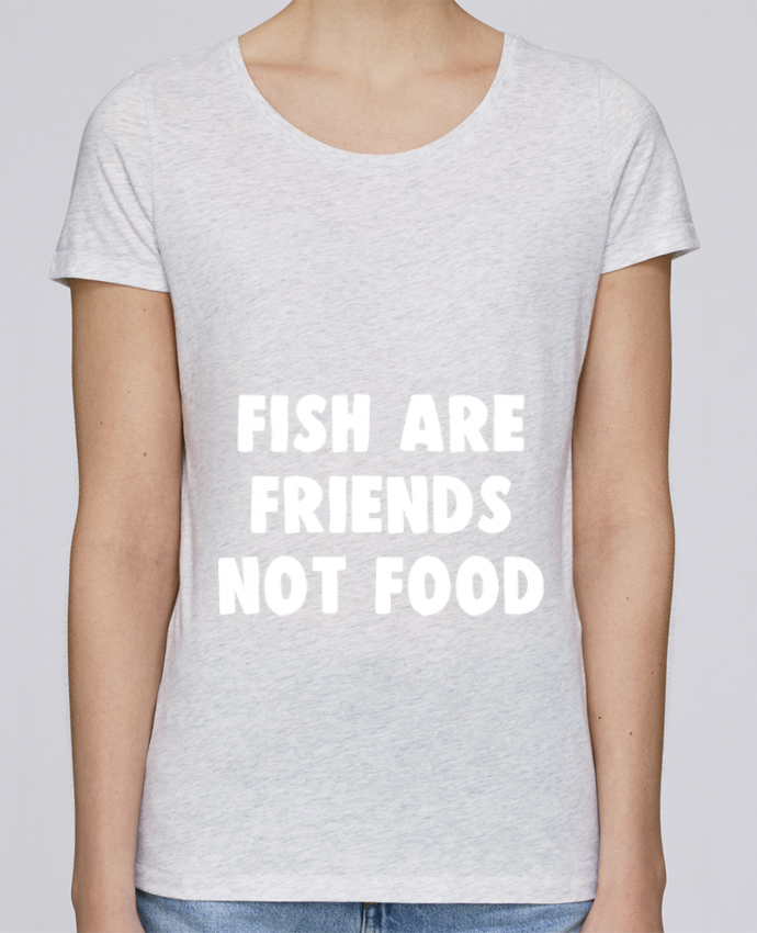 Camiseta Mujer Stellla Loves Fish are firends not food por Bichette