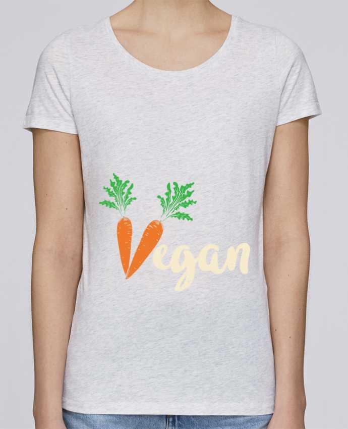 Camiseta Mujer Stellla Loves Vegan carrot por Bichette