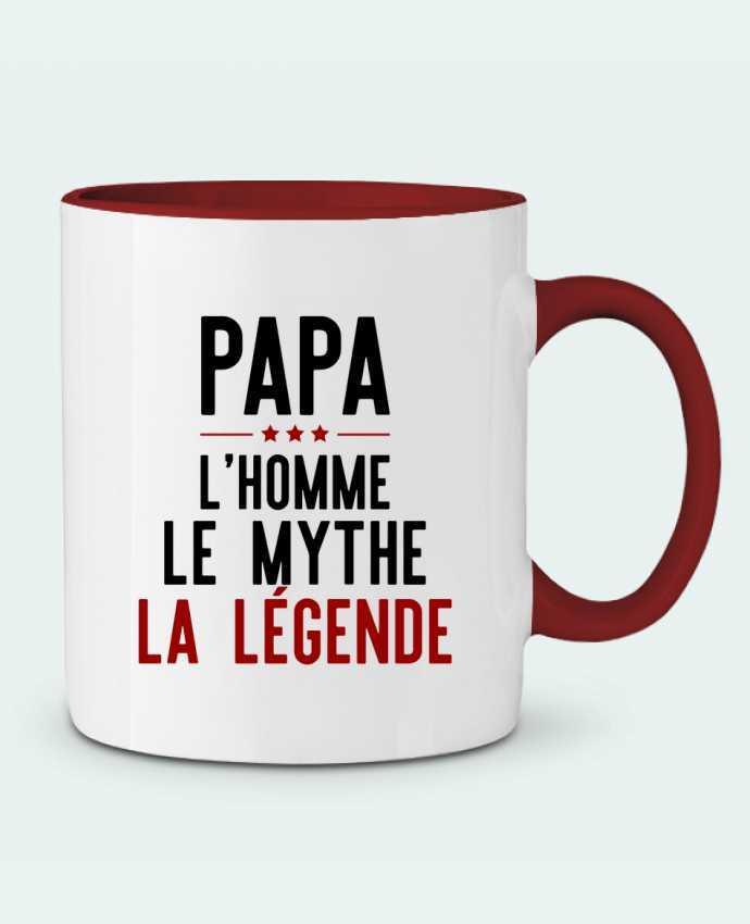 Taza Cerámica Bicolor Papa la légende cadeau Original t-shirt