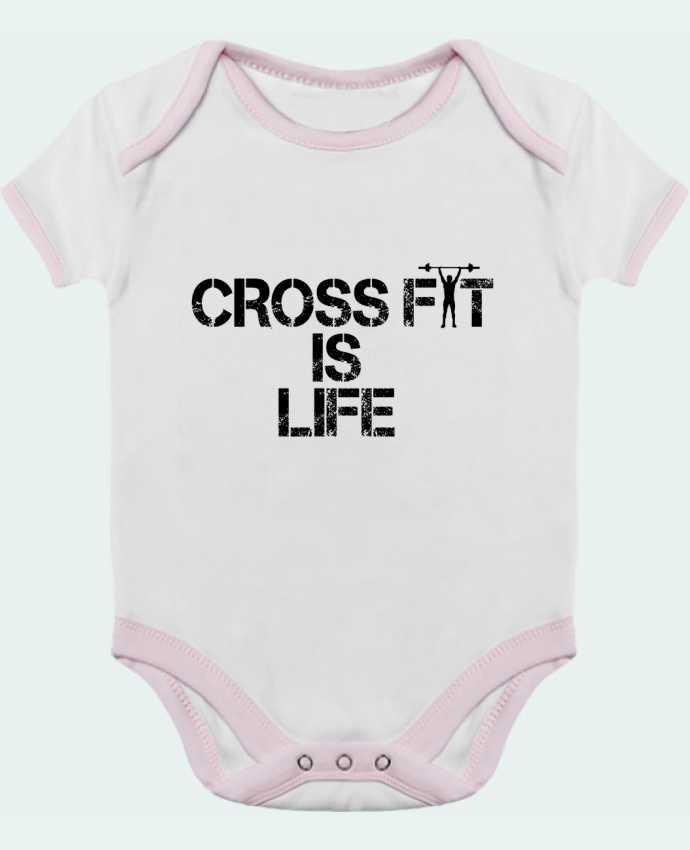 Body Bebé Contraste Crossfit is life por tunetoo