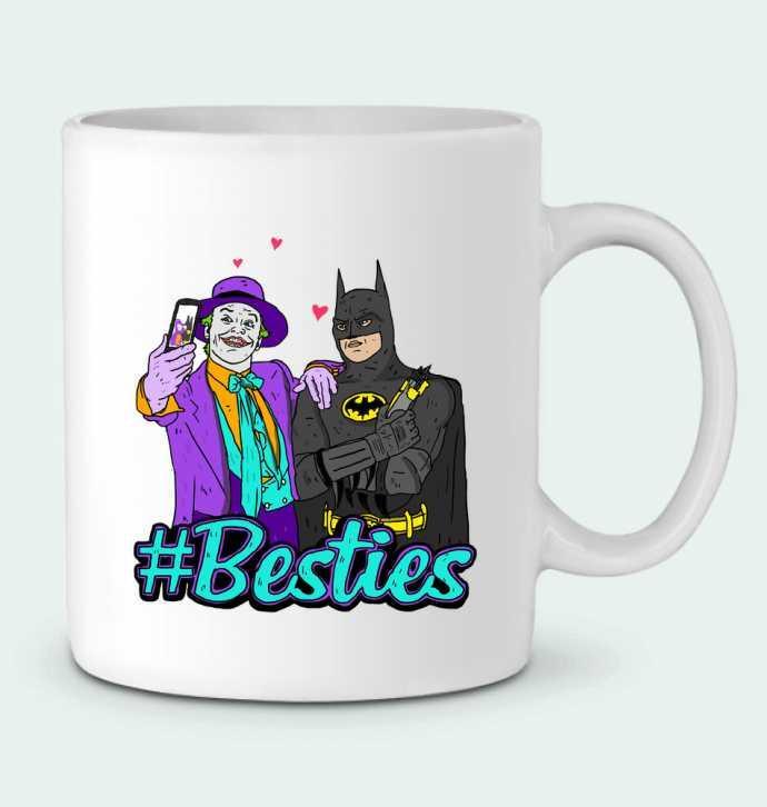 Taza Cerámica #Besties Batman por Nick cocozza