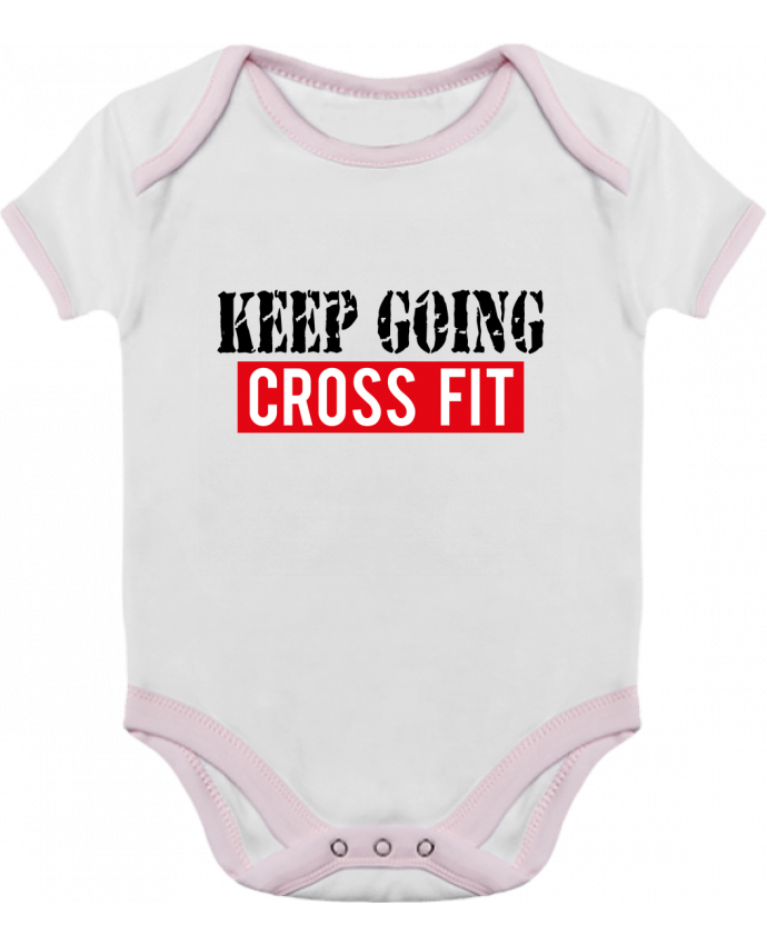 Body Bebé Contraste Keep going ! Crossfit por tunetoo