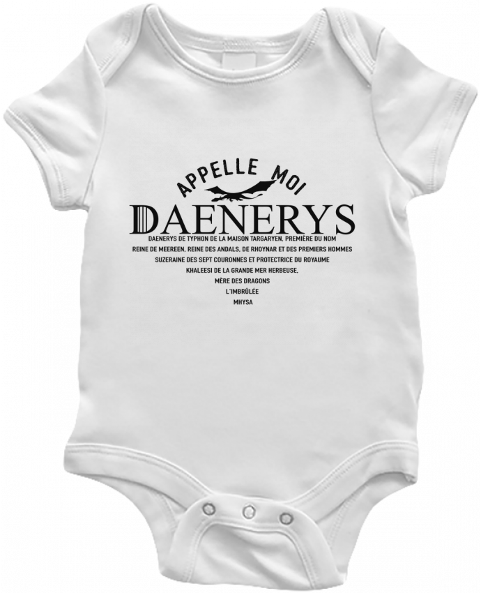 Body Bebé Appelle moi Daenerys por tunetoo