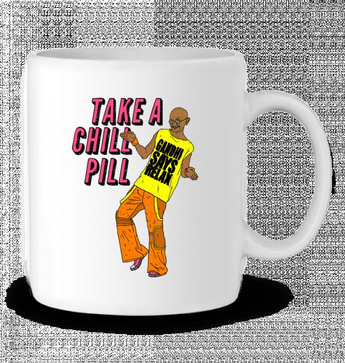 Taza Cerámica Chill Pill por Nick cocozza