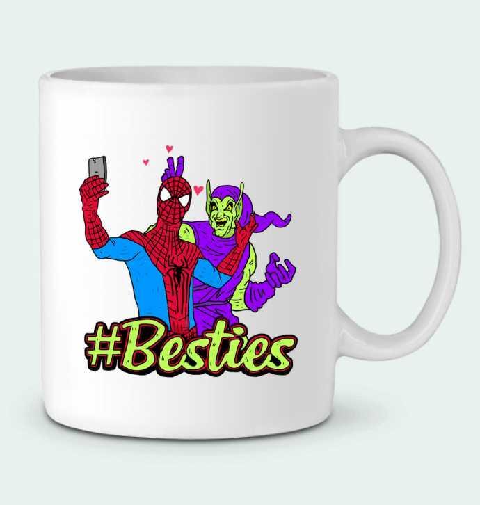 Taza Cerámica #Besties Spiderman por Nick cocozza