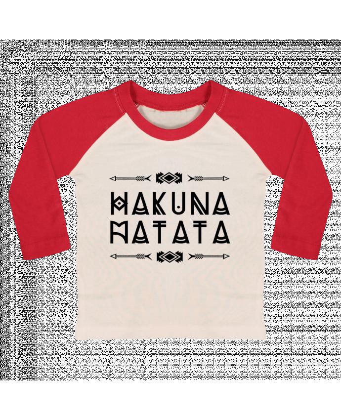 Camiseta Bebé Béisbol Manga Larga hakuna matata por DesignMe