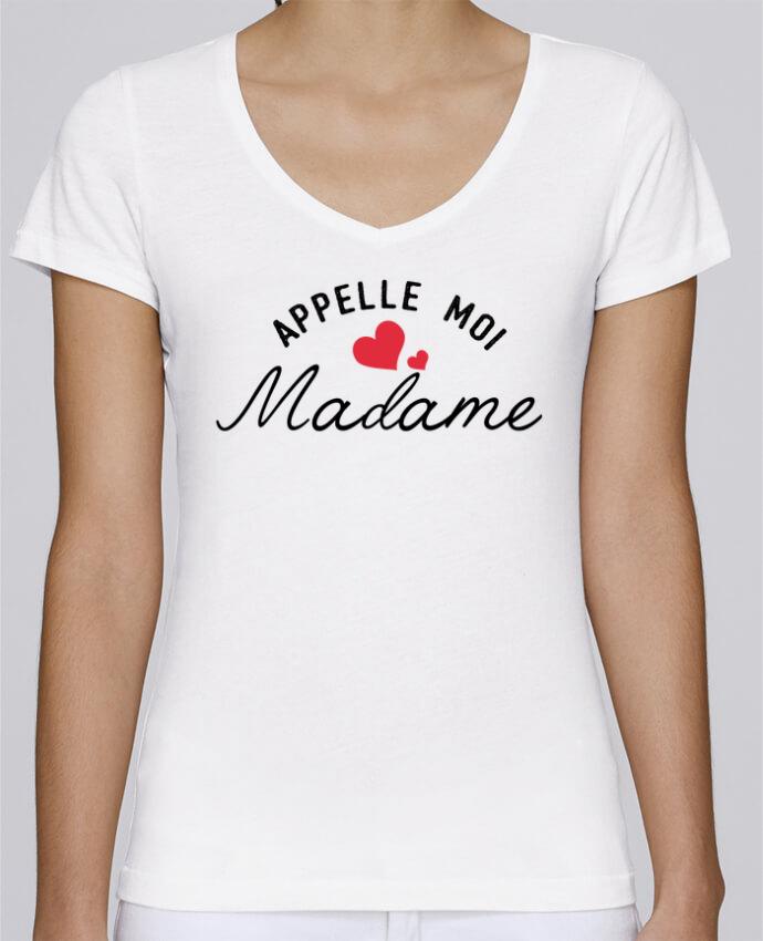 Camiseta Mujer Cuello en V Stella Chooses Appelle moi madame por tunetoo