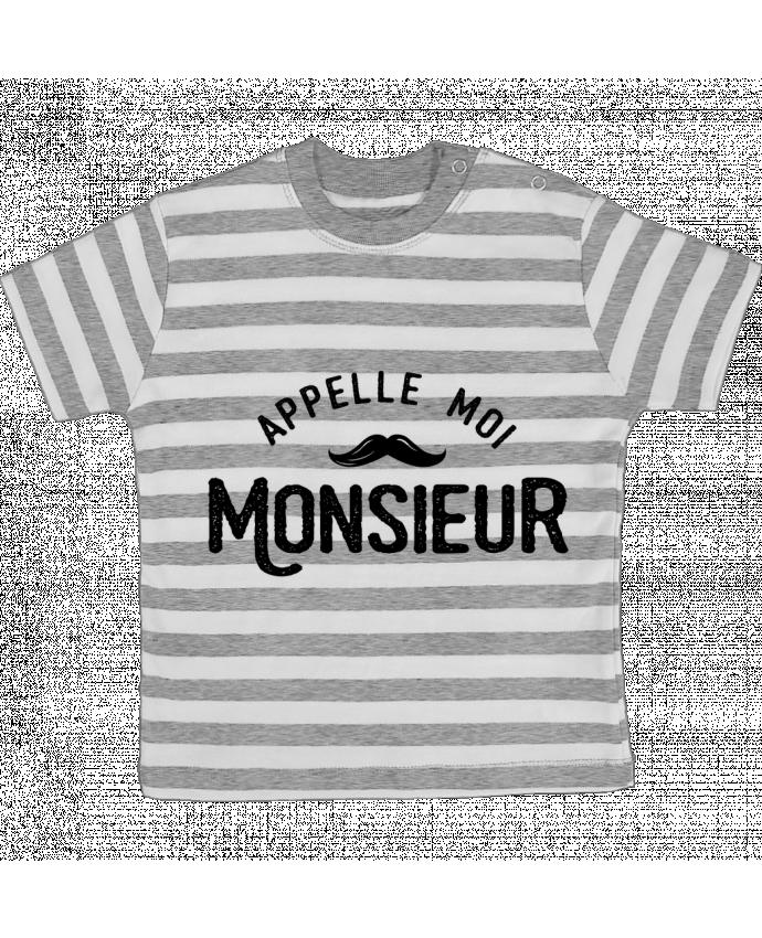 Camiseta Bebé a Rayas Appelle moi monsieur por tunetoo