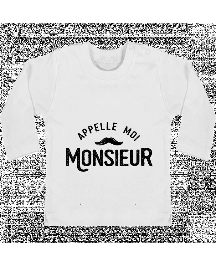 Camiseta Bebé Manga Larga con Botones  Appelle moi monsieur manches longues du designer tunetoo
