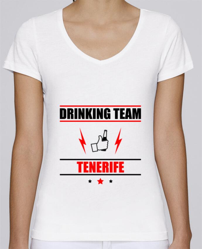 Camiseta Mujer Cuello en V Stella Chooses Drinking Team Tenerife por Benichan