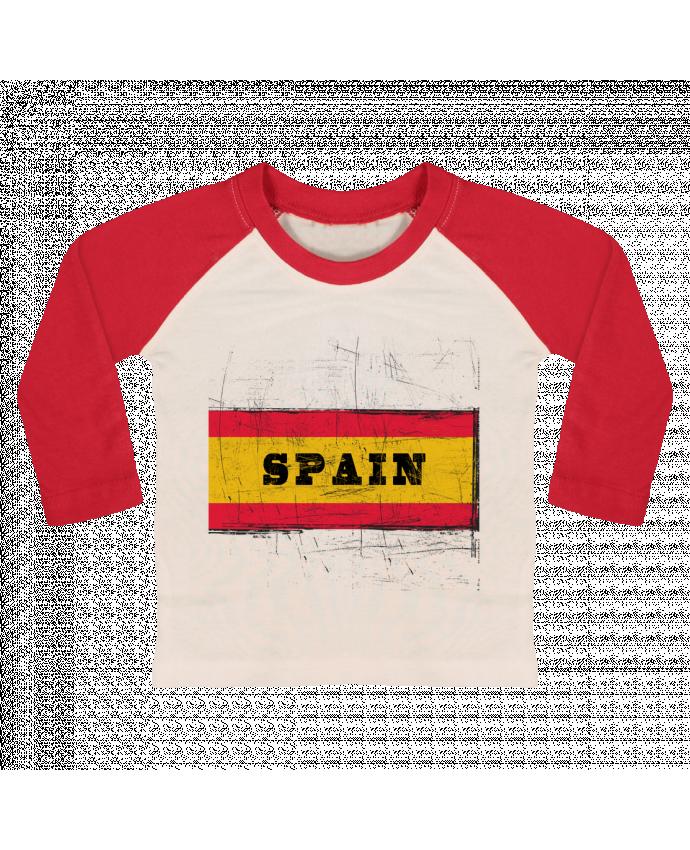 Camiseta Bebé Béisbol Manga Larga Drapeau espagnol por Les Caprices de Filles