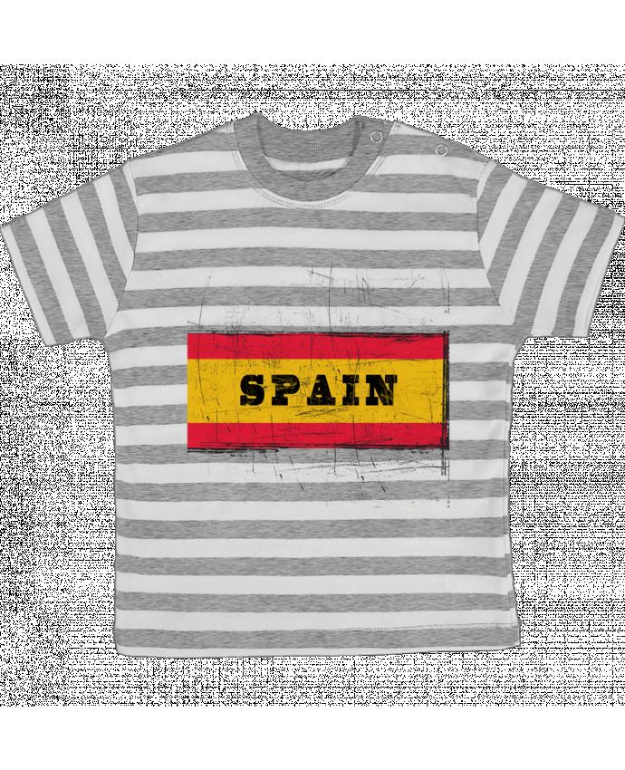 Camiseta Bebé a Rayas Drapeau espagnol por Les Caprices de Filles