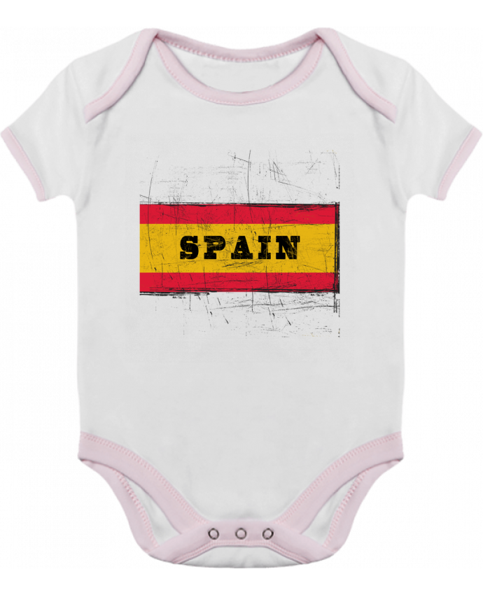 Body Bebé Contraste Drapeau espagnol por Les Caprices de Filles