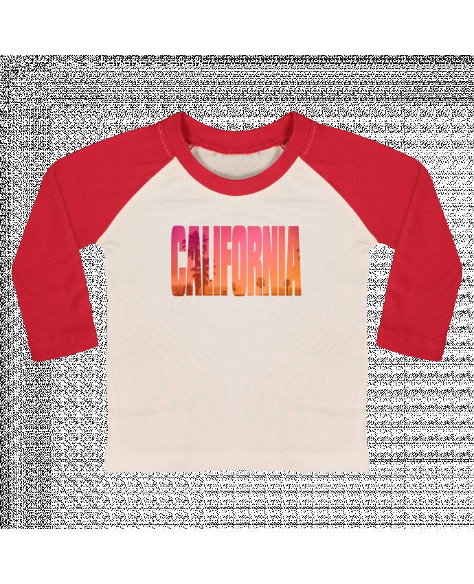 Camiseta Bebé Béisbol Manga Larga California por justsayin