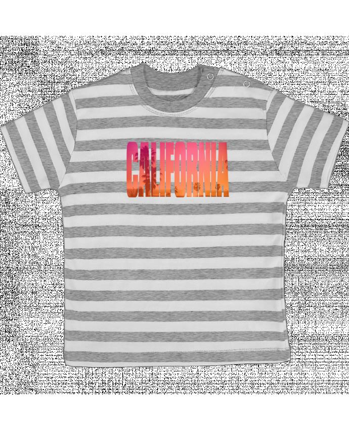 Camiseta Bebé a Rayas California por justsayin