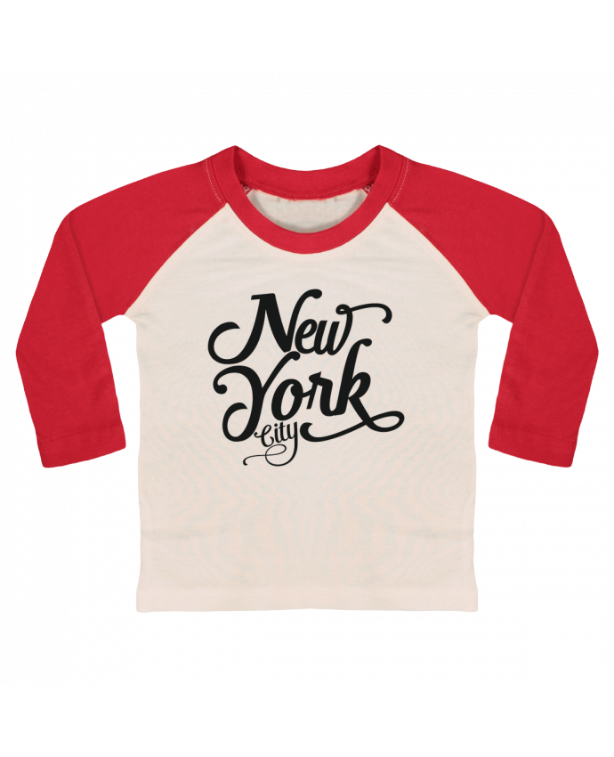 Camiseta Bebé Béisbol Manga Larga New York City por justsayin