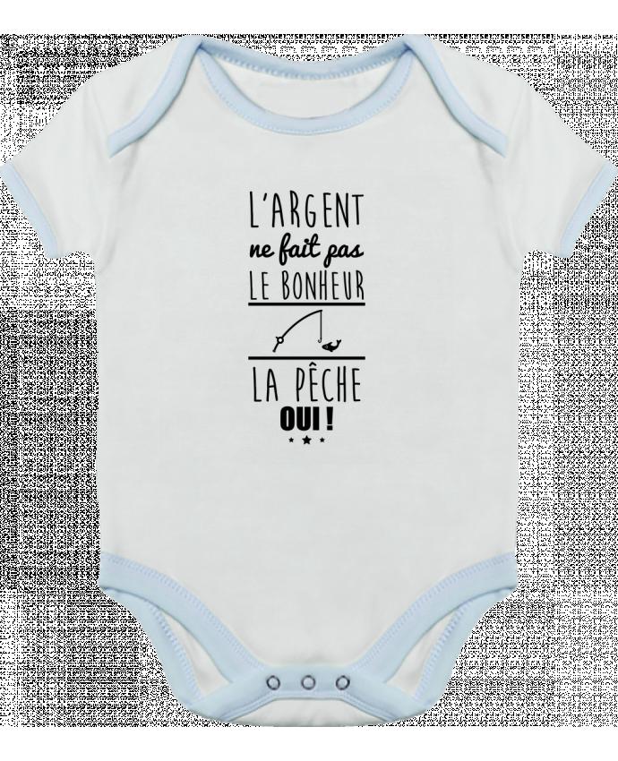 Body Bebé Contraste L'argent ne fait pas le bonheur la pêche oui ! por Benichan