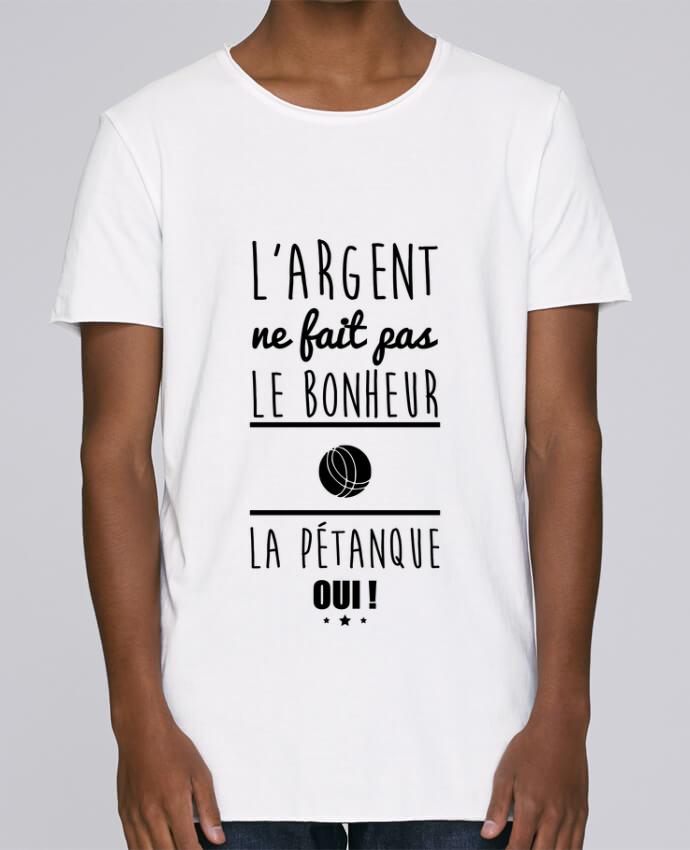 Camiseta Hombre Tallas Grandes Stanly Skates L'argent ne fait pas le bonheur la pétanque oui ! por Benichan