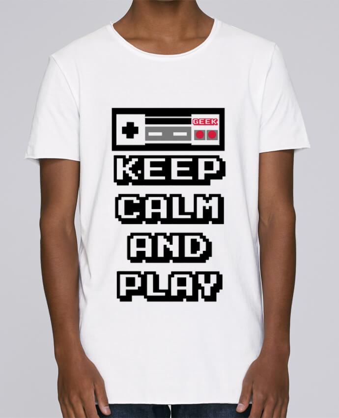 Camiseta Hombre Tallas Grandes Stanly Skates KEEP CALM AND PLAY por SG LXXXIII