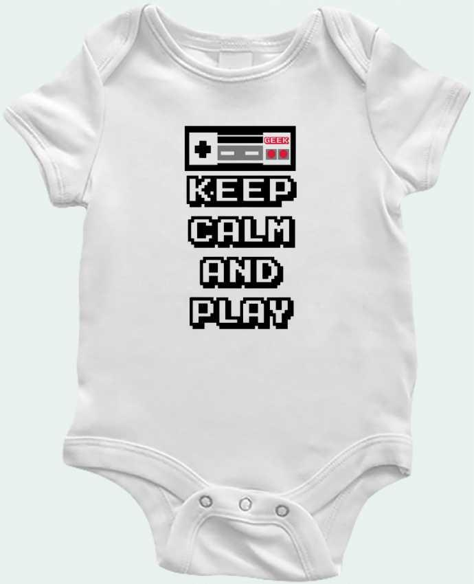 Body Bebé KEEP CALM AND PLAY por SG LXXXIII