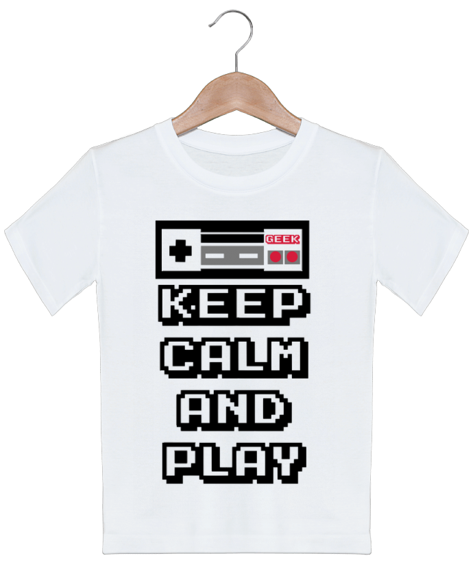 T-shirt garçon motif KEEP CALM AND PLAY SG LXXXIII