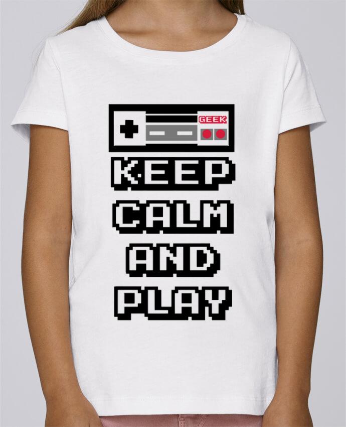 Camiseta Niña Stella Draws KEEP CALM AND PLAY por SG LXXXIII