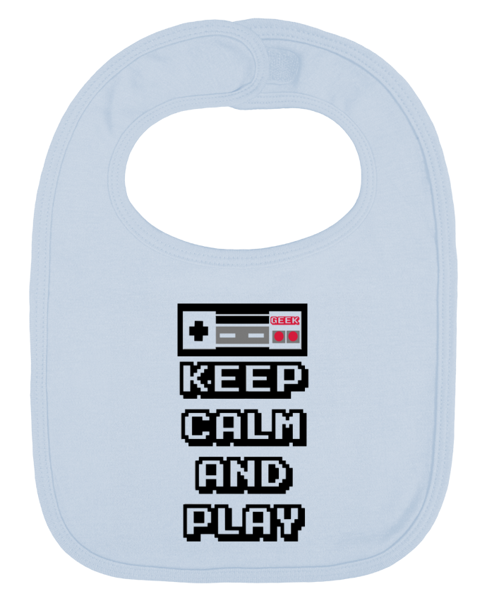 Babero Liso y Contrastado KEEP CALM AND PLAY por SG LXXXIII