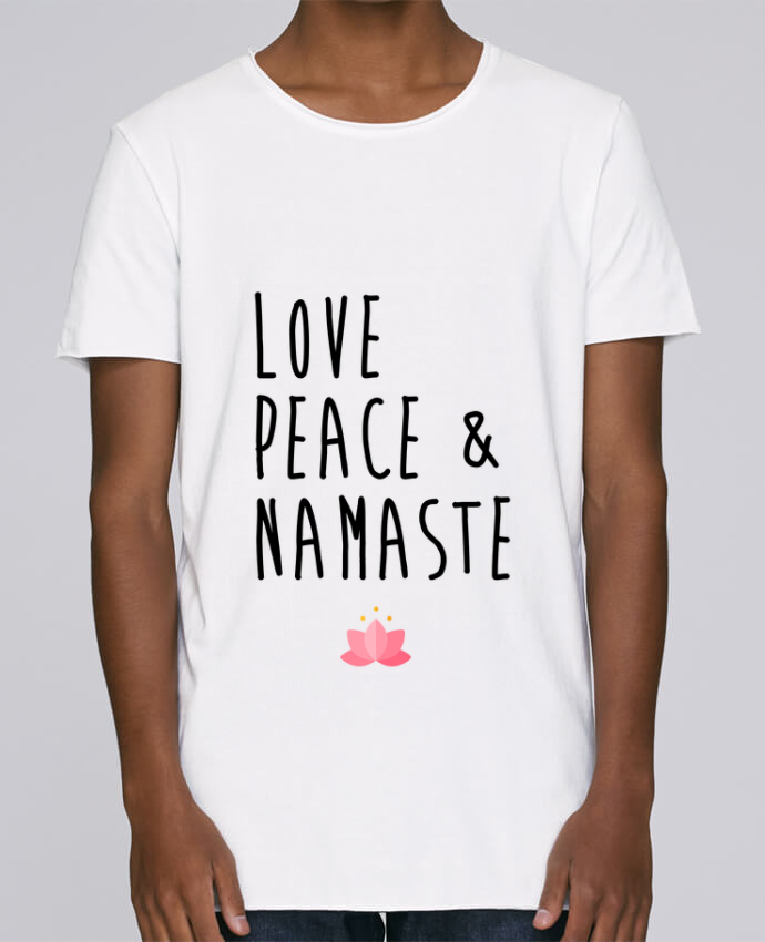 Camiseta Hombre Tallas Grandes Stanly Skates Love, Peace & Namaste por tunetoo