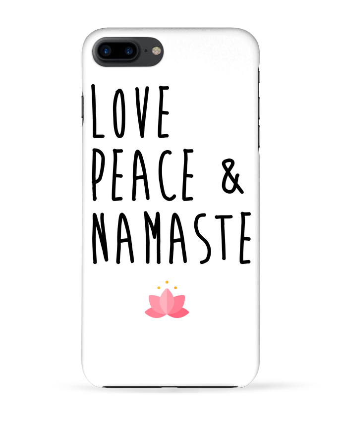 Carcasa Iphone 7+ Love, Peace & Namaste por tunetoo