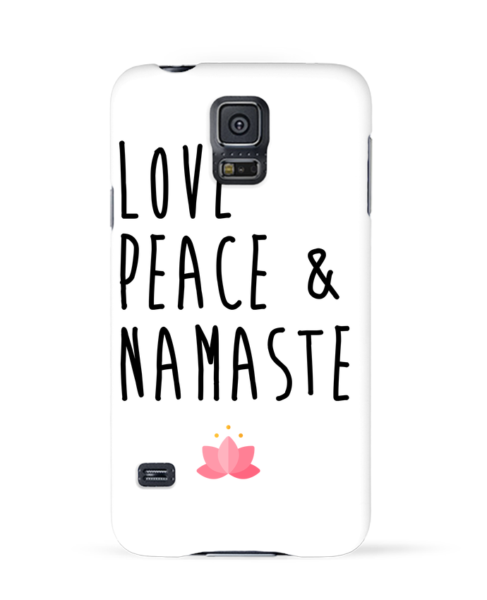 Carcasa Samsung Galaxy S5 Love, Peace & Namaste por tunetoo
